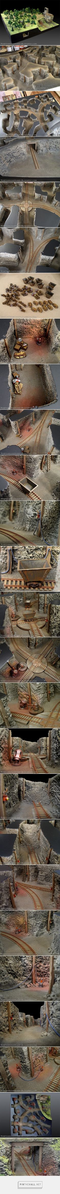 Rob Hawkins Hobby: WWX Terrain: Mine Tunnels - created via http://pinthemall.net
