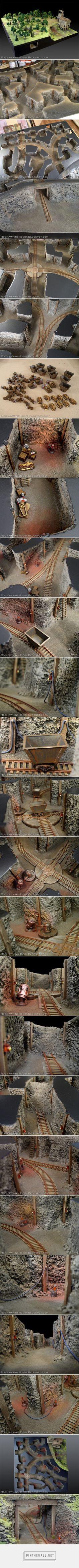Rob Hawkins Hobby: WWX Terrain: Mine Tunnels - created via http://pinthemall.net