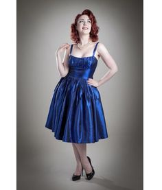 Gerry Roxby 50s Vintage Sweet Betty Taffeta Party Dress