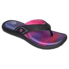 Women's Lindie Patterned Sporty Flip Flop Sandals - C9 Champion Pink 10
