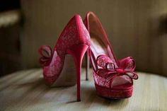 Pretty in PInk-Valentino Heels Bow Heels, Cute Heels, Stiletto Heels, Shoes Heels, Pink Shoes, Sexy Heels, Red Wedding Shoes, Wedding Heels, Bridal Shoes