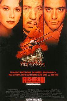 Richard III. Just to watch Ian McKellen put on a glove is extraordinary.  GREAT adaptation.