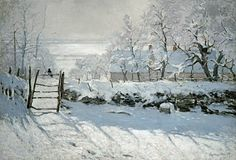 The Magpie by Claude Monet (November Paris, France - December Giverny, France), FINE ART PRINT on paper and canvas from oil painting. The Magpie is an oil-on-canvas landscape painting by the French Impressionist Claude Monet, created during the winter of Monet Paintings, Impressionist Paintings, Landscape Paintings, Impressionism Art, Landscape Posters, Painting Snow, Winter Painting, Artist Painting, Watercolor Painting