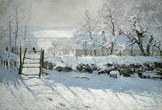 Claude Monet-Die Elster - Versandfertiges Ölgemälde auf Keilrahmen (90x71 cm), olieverf