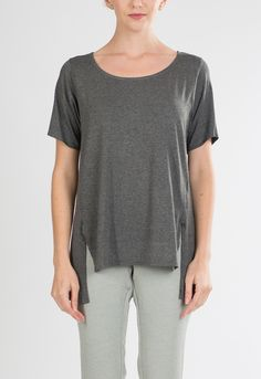 Mandy Top in Charcoal