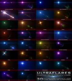 Ultraflares Flarepack Vol. Photoshop Plugins, Modern Photography, Lens Flare, Software Development, Creative Director, Design