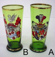 By the early 1890's, demand for the Art Nouveau style reduced the desirability of traditional Bohemian glass. (Humpen also made in Bohemia 1870-1920)