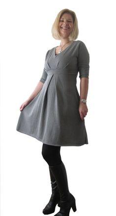 **OVER 50% RABATT** A-line Empire waist kjole i Alpakka