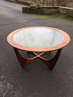 G Plan Astro coffee table. Good all round ' vintage ' condition. Please study photos. Dimensions: 85cm diameter x 45cm high. Phone number below for a very reasonable courier who drops SOUTH a couple of times a week. Andrew - Courier - 07399 597725 Any questions please ask. | eBay!