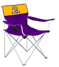 LSU Fighting Tigers Folding Canvas Tailgating Chair SEC