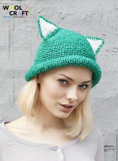 a6e737bba7f Crochet hat with kitty ears