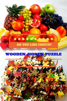 Your place to buy and sell all things handmade Fruit Hampers, Personalized Puzzles, Wooden Jigsaw Puzzles, Picture Puzzles, Puzzle Art, Baltic Birch Plywood, Fruit Art, Custom Wood, Wooden Boxes