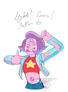 here have a cute lil doodle i did a while back when they first appeared. Im NOT letting go of the holographic jacket Steven Univese, Pearl Steven, Steven Universe Rainbow Quartz, Michaela Dietz, Deedee Magno, Rocket Raccoon, Galaxy Art, Fan Art, Kawaii Art