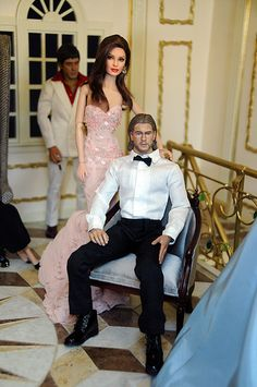 Party at the Regent Miniatures Mansion | Flickr - Photo Sharing! Amazing- Angelina Jolie and Brad Pitt by Noel Cruz