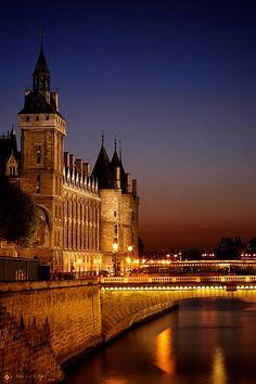 Paris along the Seine.