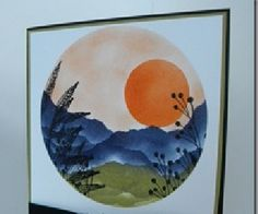 Japanese style scene done with sponging and stamps...lovely!!