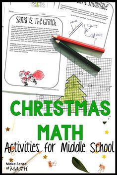 Christmas Math Movie Questions to accompany the movie Elf Algebra Activities, Teaching Math, Algebra Games, Math Resources, Math Games, Math Classroom, Math Math, Maths Fun, Math Fractions
