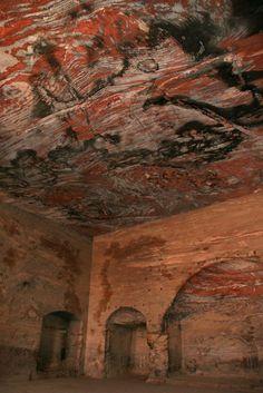 Ceiling inside Petra, Jordan