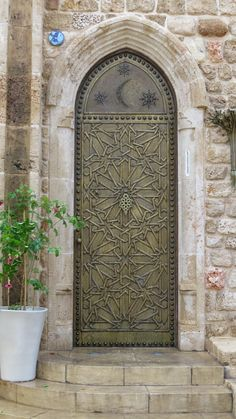 This beautiful doorway is an entrance to St Michael Church on the old city of Jaffa http://www.israel-travel-secrets.com/tel-aviv.html