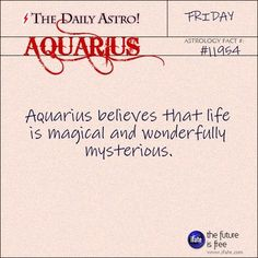 Aquarius..doesnt have to be all the time..shit can make sense even if its not on a billboard