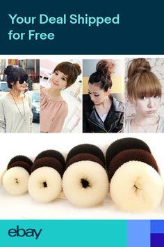 Ingenious 5 Pcs Cute Women Girls Sponge Bract Head Meatball Head Hair Bun Maker Ring Donut Shape Hairband Hair Styling Tool Wig Shape Tool Apparel Accessories Girl's Accessories