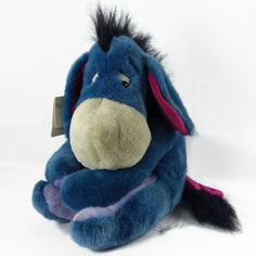 "Eeyore Disney Store Plush Stuffed Animal Sitting Donkey Medium 12"" Detached Tail #Disney"