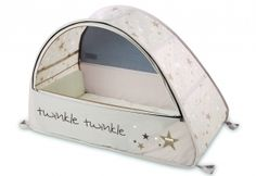 Sun & Sleep Pop-Up Bubble Travel Cot by Koo-Di £55.95. Includes mosquito net, padded mattress and blocks UVA & UVB rays. Daisy Baby Shop - For summer beach trips?