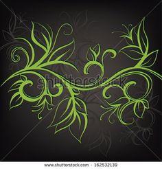 Decorative floral design. Vector illustration