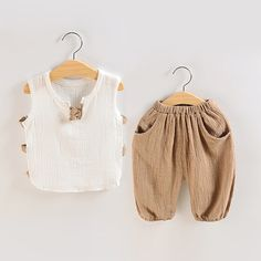 Cheap outfit set, Buy Quality cotton set directly from China children clothing Suppliers: Summer Baby Boy Linen Cotton Sets Toddler Baby Vest Top + Shorts Suits Children Clothing Outfit Sets Baby Outfits Newborn, Toddler Outfits, Baby Boy Outfits, Toddler Fashion, Kids Fashion, Fashion 2016, Fashion Dolls, Boys And Girls Clothes, Kids Suits