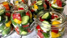 Koreczki z ogórków w zalewie - przetwory na zimę Fruit Salad, Pickles, Cucumber, Cooking Recipes, Vegetables, Blog, Fruit Salads, Chef Recipes, Vegetable Recipes
