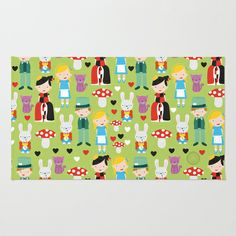 Alice in Wonderland Area & Throw Rug by i  ♥ patterns - $28.00