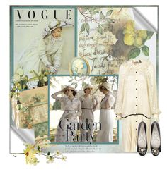 """""""Garden Party"""" by nz-carla ❤ liked on Polyvore featuring Dogpile, Fantasy Jewelry Box, Salvatore Ferragamo and Lanvin"""