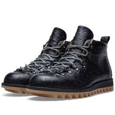 #Fracap M120 Ripple Vibram Sole Ostrich Scarponcino Boot (Black)
