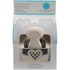 Martha Stewart Crafts® Deep Edger Punch - Lattice Heart  HSN