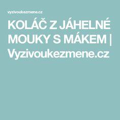 KOLÁČ Z JÁHELNÉ MOUKY S MÁKEM | Vyzivoukezmene.cz