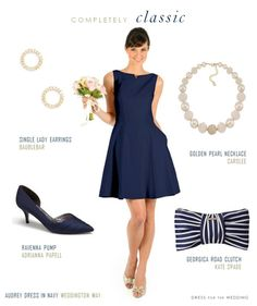 Classic Audrey Hepburn Style Dress for Bridesmaids via @Dress for the Wedding