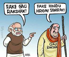 Gau Rakshaks against Dalits and Narendra Modi against Gau rakshaks: Political cartoons on cow politics in India you shouldn't miss