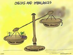 Entrepreneur Mind - Checks & Imbalances via comics Reputation Management, Management Company, Fail, A Comics, Starting A Business, Entrepreneurship, Investing, Mindfulness, Place Card Holders