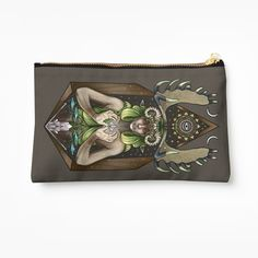 """Invocation of Spring"" Zipper Pouch by MonoMano 
