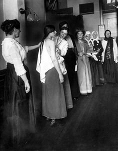 Immigrants at Ellis Island ~ early 1900's ~ waiting for their ...