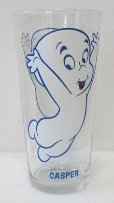 Vintage CASPER THE FRIENDLY GHOST Pepsi Collector Series Glass HARVEY CARTOONS