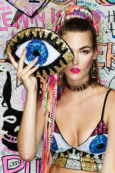 ❤ EYE from Discount Universe Pop Art Fashion, Fashion Moda, Parisienne Chic, Evil Eye Jewelry, Discount Universe, Mode Inspiration, Ideias Fashion, Creations, Fashion Editorials