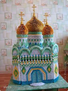 Поделка изделие Оригами китайское модульное Церковь  Бумага фото 1