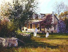 The Old Homestead - June Dudley Fine Art Paintings and Prints