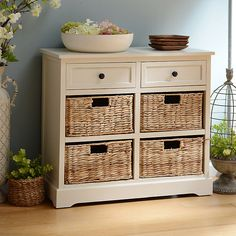 Ivory 6-Drawer Storage Chest with Baskets | Kirklands