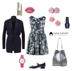 """Chic Lady"" by annaturcato ❤ liked on Polyvore featuring Estivo, ESPRIT, Michele, OPI, Lime Crime, Moschino and Liquido"