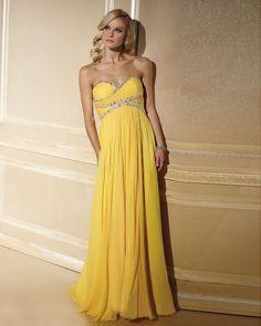 $102.99 Elegant Chiffon Applique Ruffle Beading Evening Dress #fashion #dress