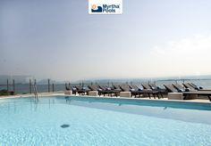 Pool on lake. #Myrtha #pool
