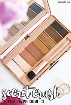 Pur Minerals Secret Crush Palette Swatches. Read more at >> www.glamorable.com | via @glamorable