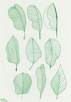 leaves by a is for anika, via Flickr